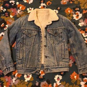 Vintage Levi's Sherpa Denim Jacket - XS